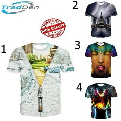 New 3D T-Shirt Psychedelic Cool Trip Tee Tops Full Print Men Women Casual Summer