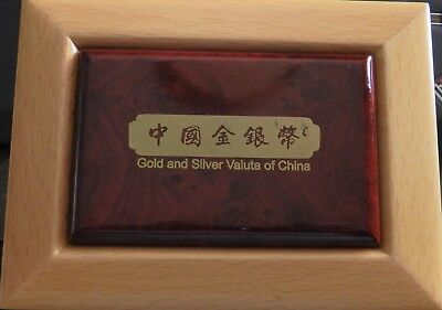 1 X Chinese Gold And Silver Coin Box With 44Mm Insert For Panda Coin - No Coin