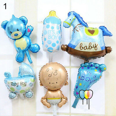 6 Pcs/Set Baby Shower Foil Balloons Kid Boy Girl Birthday Party Decoration Int