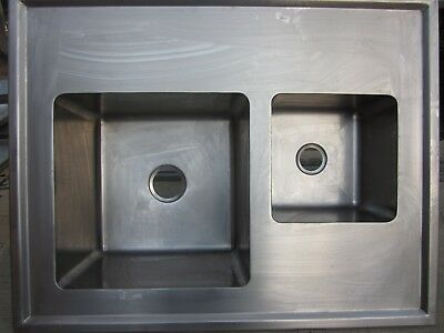 Commercial Stainless Steel Double Sinks Top