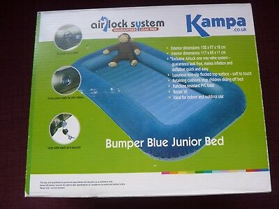 Kampa Airlock Junior Bed - Inflatable Childrens Airbed with Safe Bumper Sides