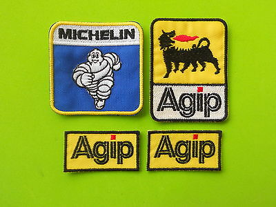 Patch Agip Michelin Pz 4 Ricamate Termoadesive -Replica