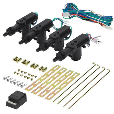 Universal Car Central 4 Door Lock Locking Vehicle Security System Kit