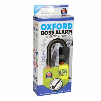 Oxford Boss Motorcycle Disc Lock Alarm Ultra Strong Motorbike Thatcham Security
