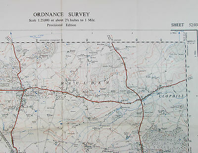 1947 OS Ordnance Survey 1:25000 First Series Provis map TL 03 Ampthill 52/03