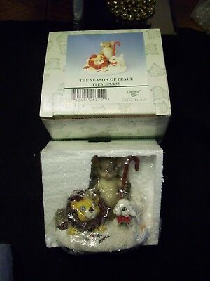 """CHARMING TAILS """"The Season of Peace"""" SIGNED BY DEAN GRIFF Fitz & Floyd"""