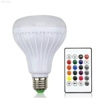 1ED9 12W LED RGB Wireless Bluetooth Speaker Light Lamp Bulb Music Play Audio