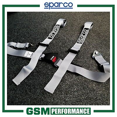 Sparco 4 Point Trackday Harness / Silver
