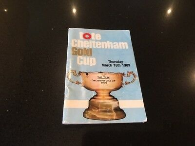 1989 CHELTENHAM GOLD CUP RACE CARD 16th March 1989 - DESERT ORCHID