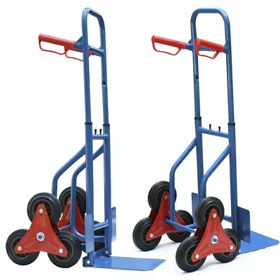 Hand Trolley 200Kg Sack Truck Barrow Tri Wheel Trolley Stair Climber Cart