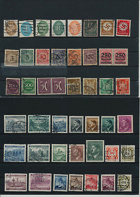 Germany, Deutsches Reich, Nazi, liquidation collection, stamps, Lot,used (AE 24)