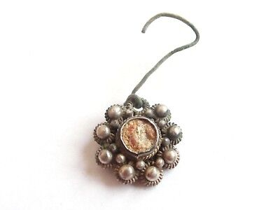 Amazing - Late ROMAN Period Silver EARRING Suspension - Ancient relic