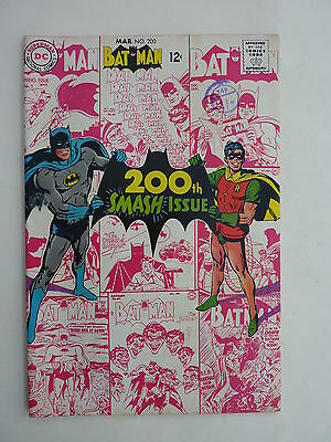 Batman #200 Special 1968. VFN. Joker, Penguin, & Scarecrow. Neal Adams art.