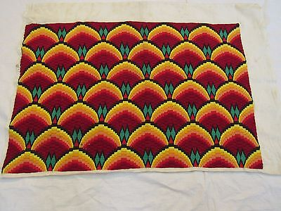 60s BEAUTIFUL HAND EMBROIDERED TAPESTRY TEXTILE FOR PILLOW CASE 45 X50 CM