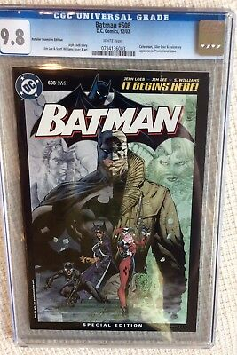 Batman #608 CGC 9.8 Jim Lee Retailer Incentive Edition RRP Variant Hush Joker
