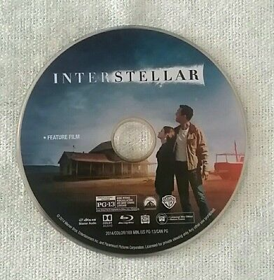 Interstellar (Blu-ray, 2018) / BLU RAY ONLY FROM 4K EDT.  NO 4K DISC! / LIKE NEW