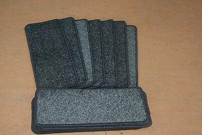 14 Open Plan Carpet Stair Treads Quality Taurus Grey Pads! 14 Large Pads!