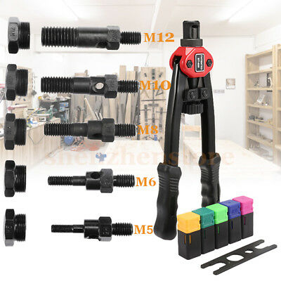 BT-605 Manual Pull Rivet Hand Nut Rivnut Gun Riveting Tools M5/M6/M8/M10/M12