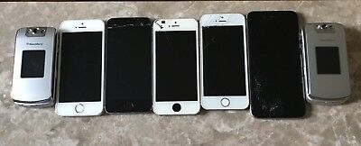 Lot Of Used iPhones & Blackberry AS-IS Cell Phones Wholesale