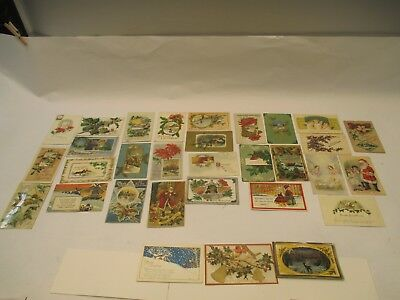 Vintage Most Early 1900's Very Old Lot (31) Christmas Post Cards 1 Other