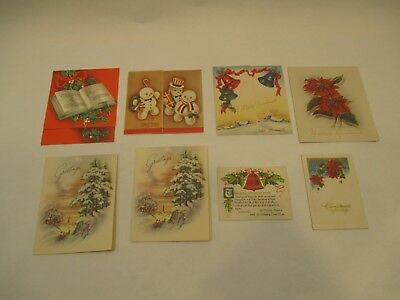 Vintage  Early 1900's Very Old Lot (8) Christmas Greeting Cards 1 Other