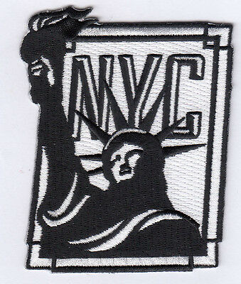 """2 Pcs NYC Statue of Liberty Embroidered Patches 3.5""""x2.8"""" iron-on"""