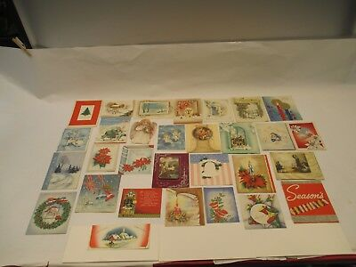 Vintage Very Old Lot (30) Christmas Greeting Cards VERY NICE!!