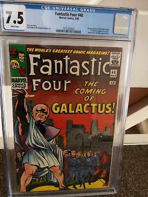 Fantastic four 48, cgc 7.5, white pages. 1st Silver Surfer and Galactus