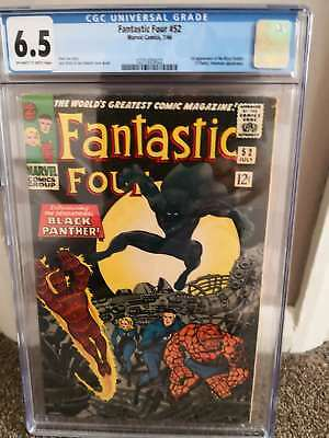 Fantastic four #52 cgc 6.5 first Black Panther