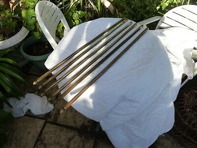 1930s/40s Brass Stair rods 19 in total