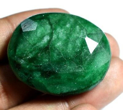 116.75Ct Natural Green Zambian Emerald Oval Top Quality Agsl Certified Gem Stone