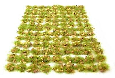 Green rocky tufts x117 - Self adhesive static model scenery