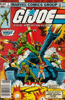 G.i. Joe #1 (1982) - News Stand Edition - Free Shipping !