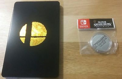 NEW Super Smash Bros Ultimate Limited Edition Steelbook Case and Coin *No Game*