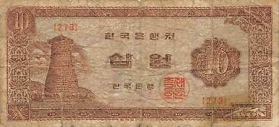 Korea  10  Won  ND. 1965  P 33e  Block { 273 }  Circulated Banknote AK2