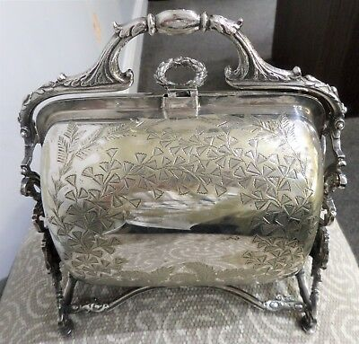 Victorian Silver Plate Muffin Food Warmer