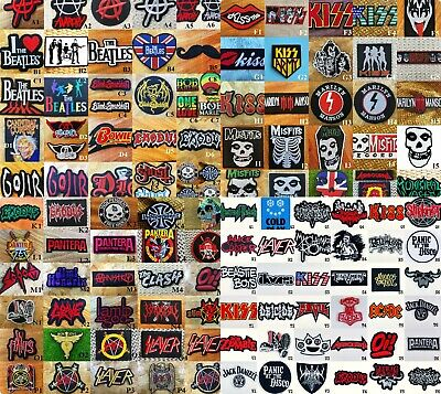 Rock Iron On Patch Logo Heavy Metal  Music Embroidered Jacket Decor