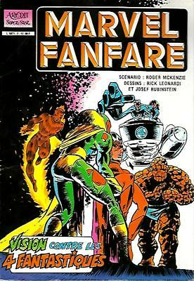 Album MARVEL FANFARE--VISION contre les 4 FANTASTIQUES--AREDIT super star