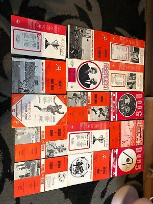 15 X Aberdeen Home Football Programmes 1971-78