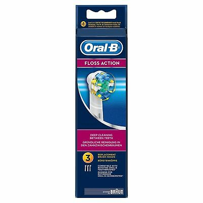 3 Braun Oral B Floss Action Toothbrush Replacement Brush Heads Refill