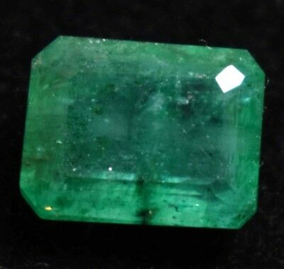 5.75 Ct Natural Green Colombian Emerald Gem Stone AGSL Certified Emerald Cut