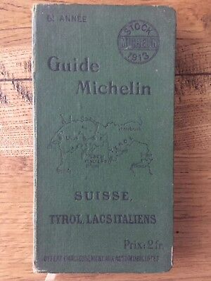 Guide Michelin Suisse 1913