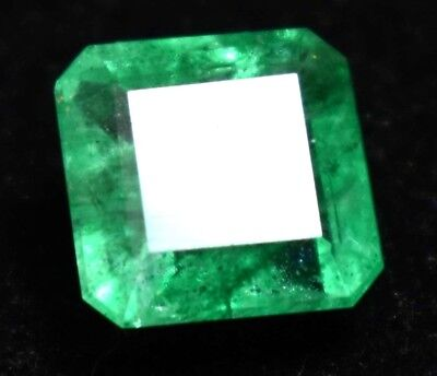 4.70 Ct Natural Green Colombian Emerald Gem Stone AGSL Certified Emerald Cut
