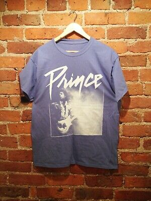 Prince Live T-Shirt (Pop Retro Vintage) Unisex Ladies Mens (Lavender)