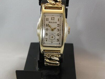 1942 ish BULOVA * BANKER *MEN`S EXTRA LONG  WATCH..TOTALLY RESTORED/NEW CRYSTAL