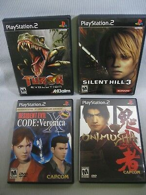 Lot of 4 Sony Playstation 2 Video Games - Mature Rated