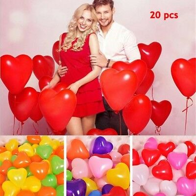 "20x 12"" Love Heart Latex Wedding Balloons Party Ballon Valentines Day Decoration"