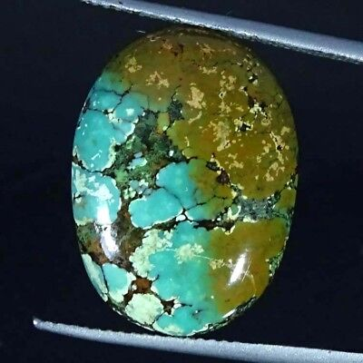 10.10Cts 100% Natural Tibet Turquoise Oval Cabochon Loose Gemstone