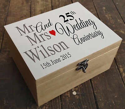 Personalised Luxury Extra Large Wooden Memory Box Keepsake Box