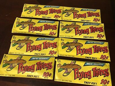 FLYING THINGS TOPPS 1960's 8 Piece LOT,vintage Rare Toys,complete With All Parts